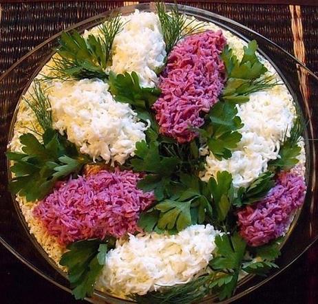 Красивые салаты сирень фото рецепт